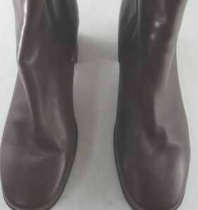 Clarks women chelsea boots leather zip sz 9m